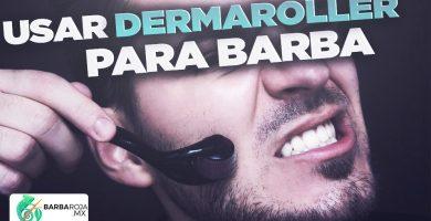 Como usar el dermaroller para barba