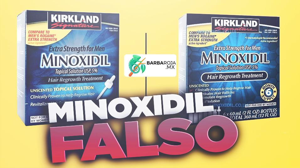 Como es el Minoxidil falso