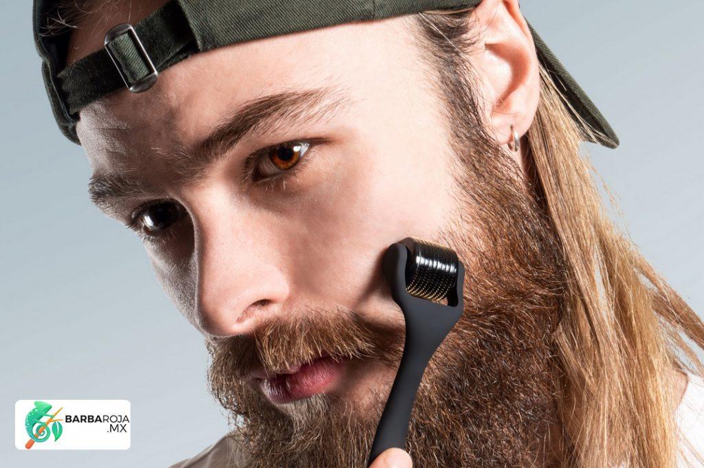 dermaroller para barba minoxidil